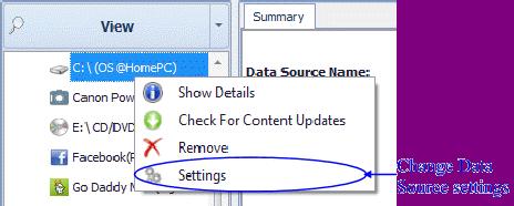 "Select ""Settings"" to change settings"