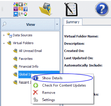 Show a Data Source's contents