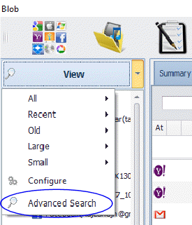 "Start advanced search from ""View"" Menu"