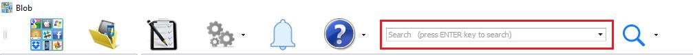 Blob Quick Search menu