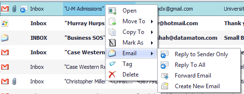 Read, create, reply and forward emails with Blob