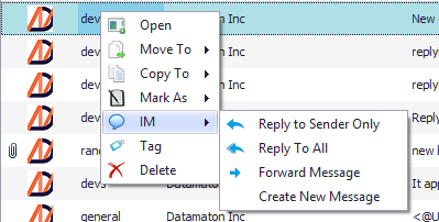 Create, read, reply and forward text messages with Blob