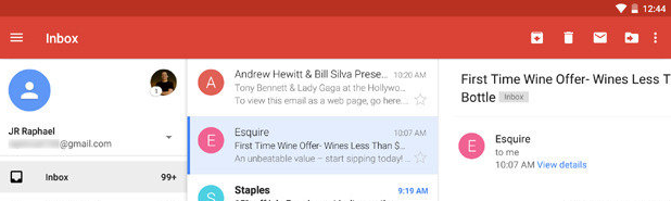Gmail's mobile app has the archive button right next to the Delete button