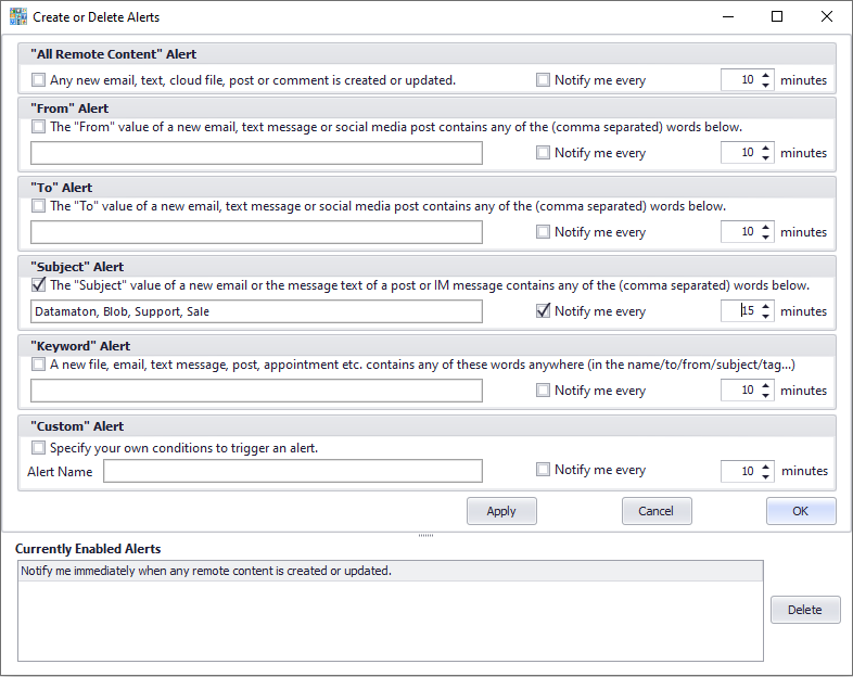 Get alerts when any content type from anywhere is created or changed