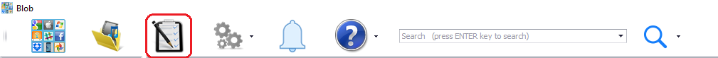 Menu button to create a new task