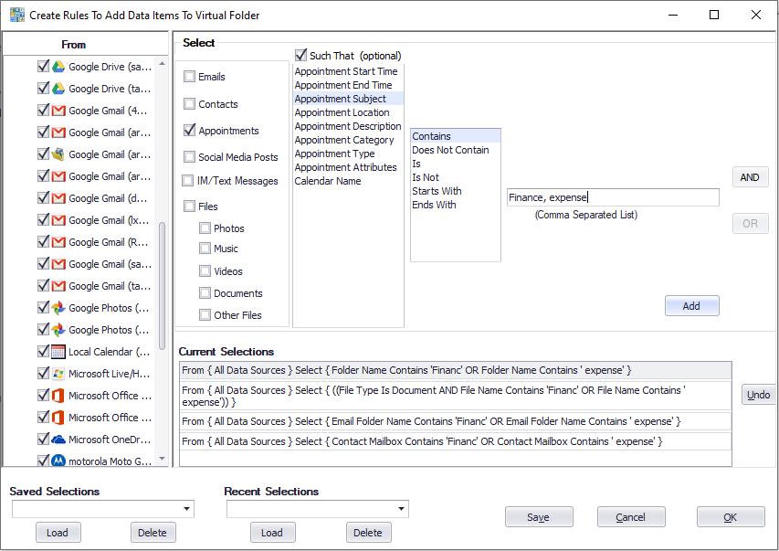 Add rules to a Blob virtual folder