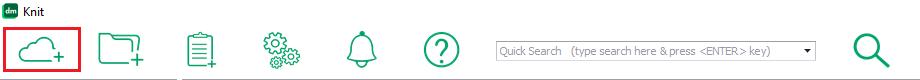Add Data Source menu icon