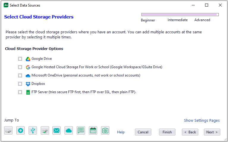 Tell Knit to index your cloud storage accounts