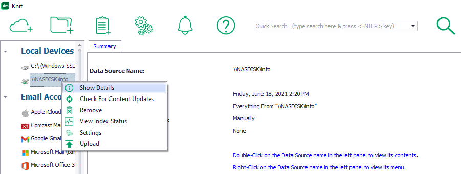 Force reload Knit index files